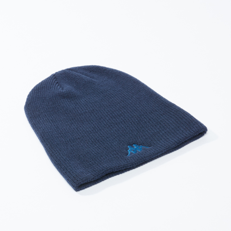 Kappa Ribbed Beanie Cap with Embroidery