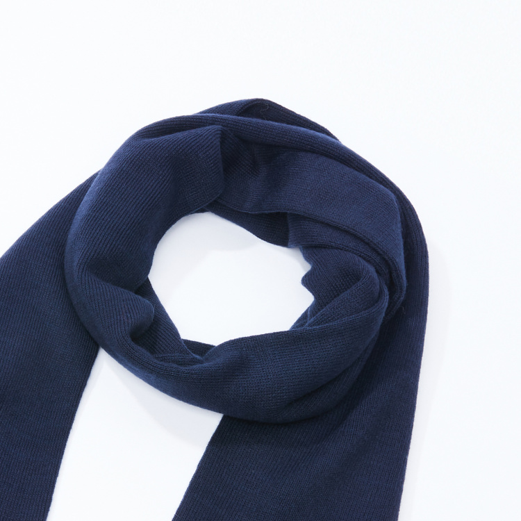 Kappa Ribbed Scarf with Embroidery