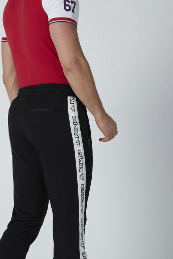 Kappa Tape Detail Trousers with Drawstring