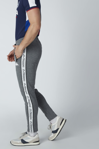 Kappa Printed Track Pants with Drawstring Waistband