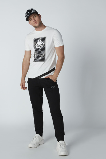 Kappa Graphic Printed T-shirt with Short Sleeves