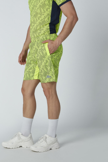 Kappa Printed Shorts with Pocket Detail