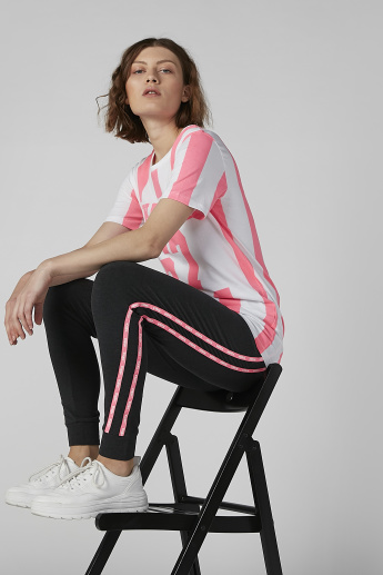 Kappa Knit Full Length Joggers with Contrast Stripes