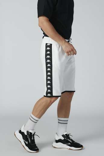 Kappa Printed Panel Detail Shorts with Pockets