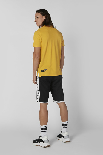 Kappa Printed T-shirt with Polo Neck and Short Sleeves