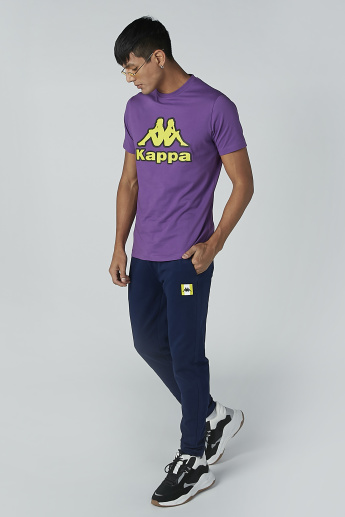 Sustainable Kappa Mid Waist Jog Pants with Drawstring and Pockets