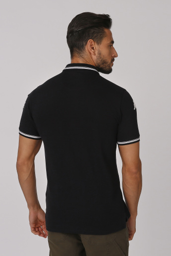 Kappa Printed Polo T-shirt with Short Sleeves
