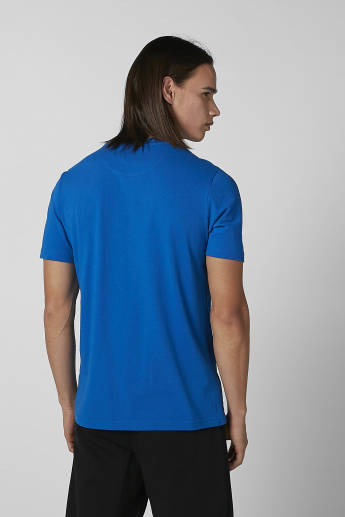 Kappa Printed T-shirt with Round Neck and Short Sleeves