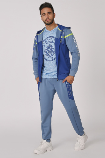 Sustainable Manchester City Printed Jacket with Hood