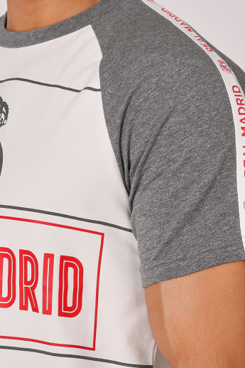 Sustainable Real Madrid Printed T-shirt with Raglan Sleeves