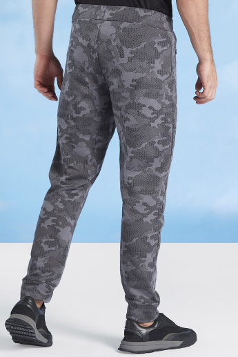 Full Length Camouflage Printed Jog Pants with Pocket Detail