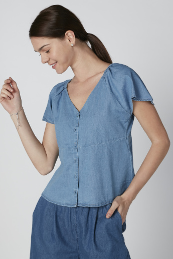 Bossini V-neck Shirt with Extended Sleeves