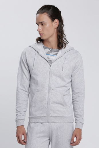 Long Sleeves Jacket with Zip Closure and Hood