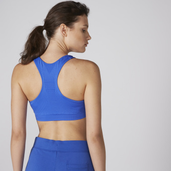 Sports Bra with Scoop Neck and Racer Back