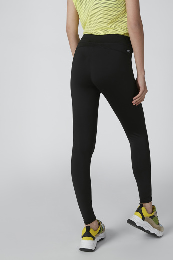 Full Length Solid Leggings with Side Detail