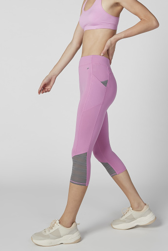 Plain Capris with Elasticised Waistband