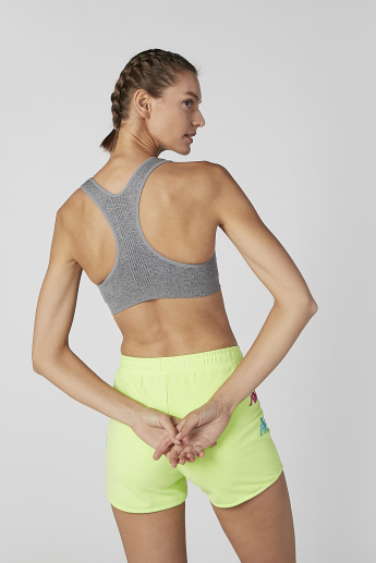 Plain Sports Bra with Scoop Neck and Racerback