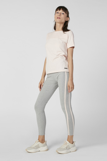 Full Length Stripe Detail Pants with Elasticised Waistband
