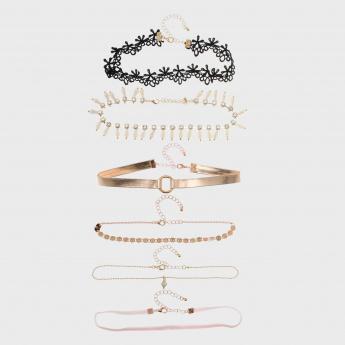 Assorted Choker Necklace - Set of 6