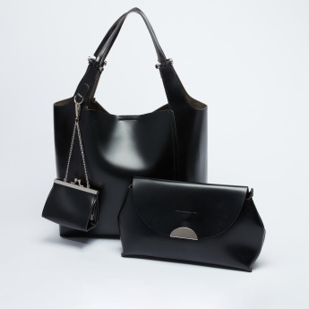 Handbag with Pouch and Keychain