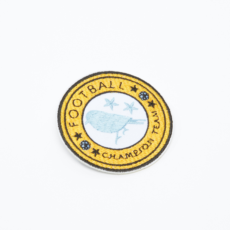 Football Championship Team Embroidered Badge with Safety Clasp