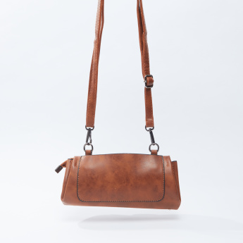 Textured Crossbody Bags with Detachable Strap