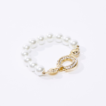 Studded and Pearl Detail Bracelet