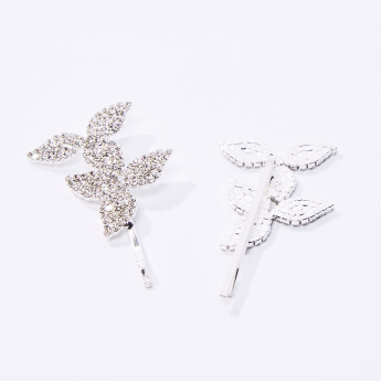 Set of 2 - Studded Applique Detail Hairpin