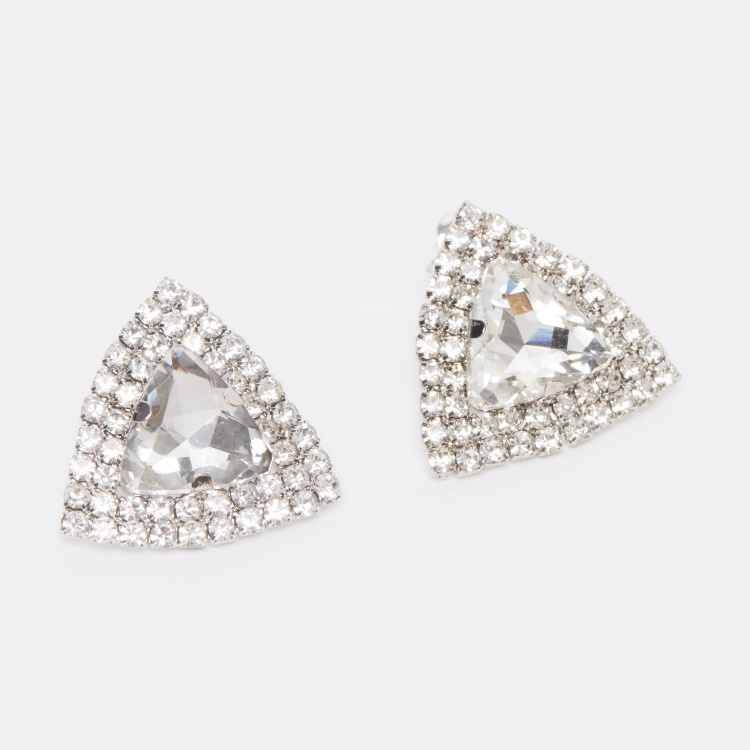 Studded Earrings with Pushback Closure