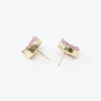 Embellished Stud Earrings with Pushback Closure