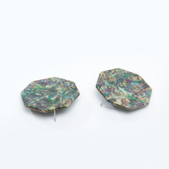 Printed Earrings with Pushback Closure