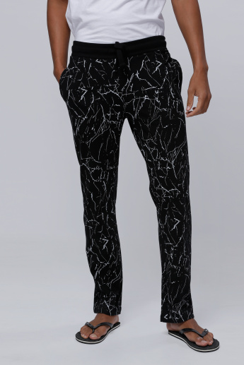 Full Length Printed Lounge Pants with Elasticised Waistband