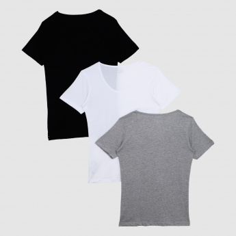 Round Neck Short Sleeves T-Shirt – Set of 3