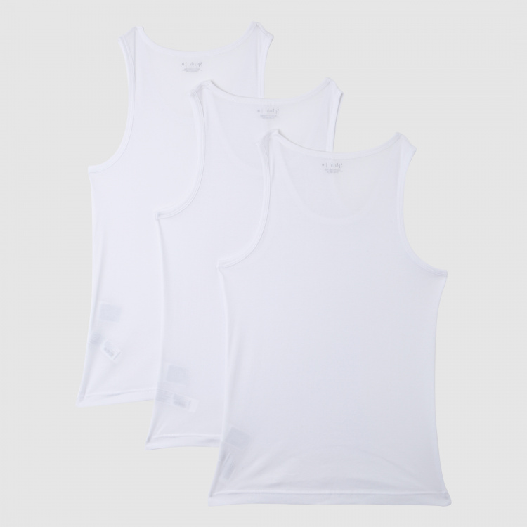 Round Neck Sleeveless Vest - Set of 3