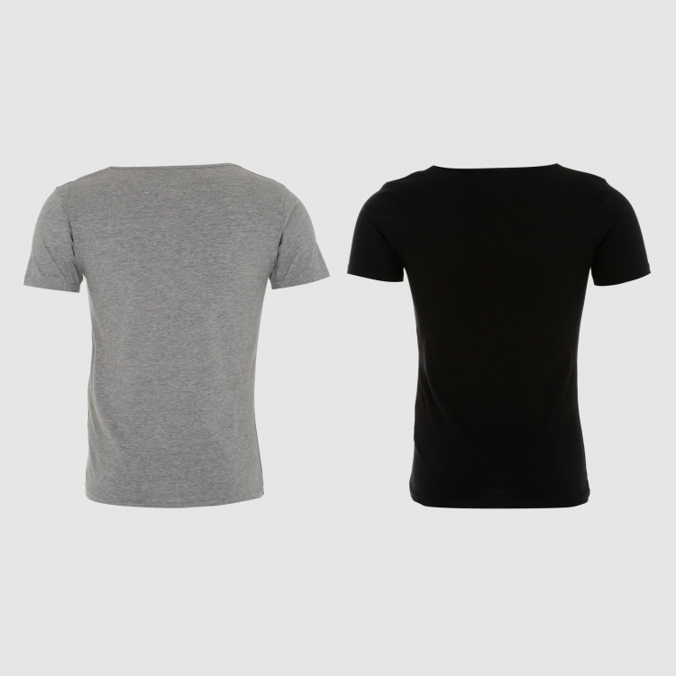 Round Neck T-Shirt with Short Sleeves – Set of 2