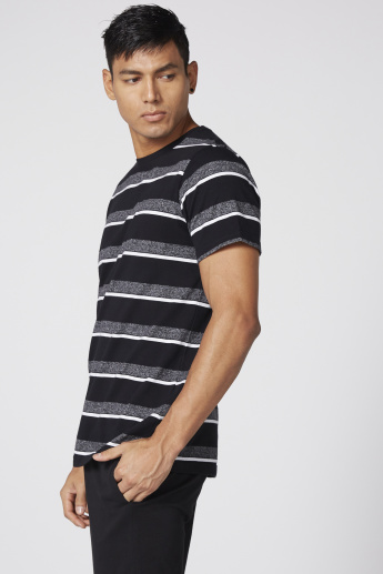 Printed Striped T-Shirt and Pyjama Set