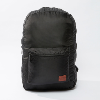 Multi-Pocket Backpack with Zip Closure and Adjustable Straps