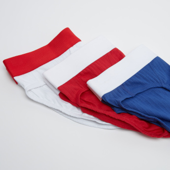 Set of 3 - Textured Briefs with Wide Elasticised Waistband