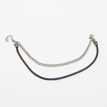 Dual Metallic Chain with Fish Hook