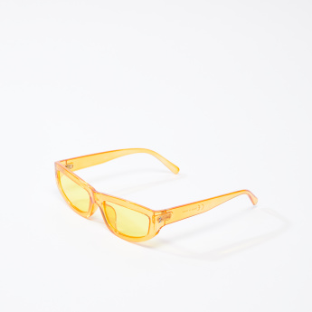 Clear Full Rim Wayfarer Sunglasses with Wide Temples