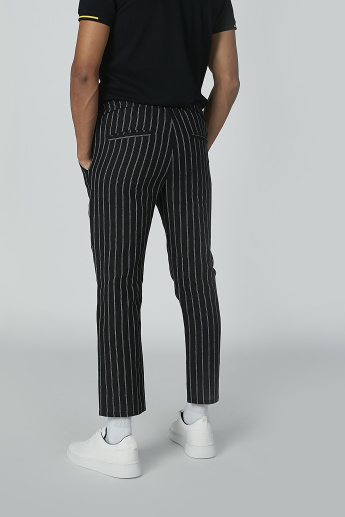 Striped Full Length Chino with Pocket Detail and Drawstring