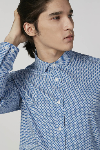 Sustainable Slim Fit Printed Shirt with Long Sleeves