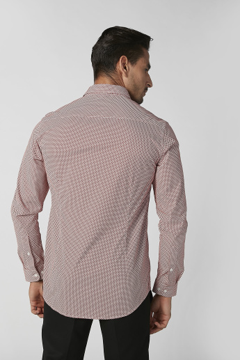 Sustainability Slim Fit Printed Shirt with Long Sleeves