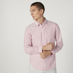 Sustainability Slim Fit Striped Long Sleeves Shirt with Spread Collar