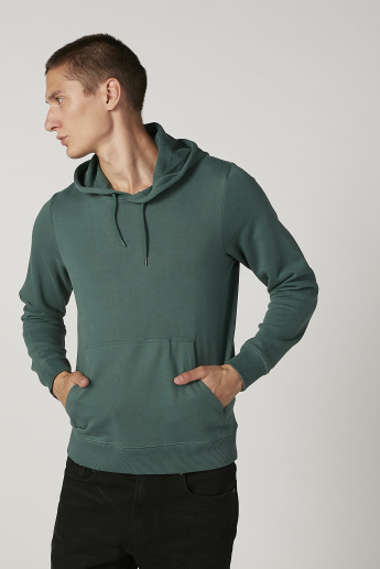 Bossini Plain Sweatshirt with Long Sleeves and Hood