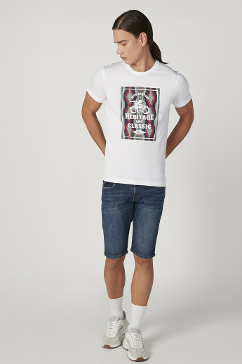 Bossini Graphic Printed T-shirt with Short Sleeves