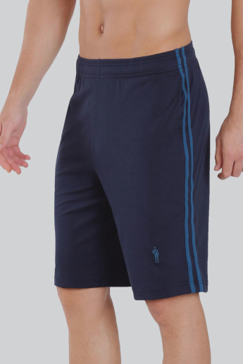 Jockey Solid Shorts with Tape Detail and Elasticised Waistband