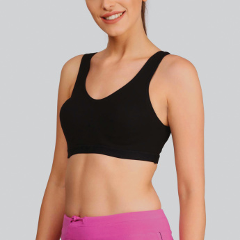 Jockey Plain Sports Bra with Scoop Neck