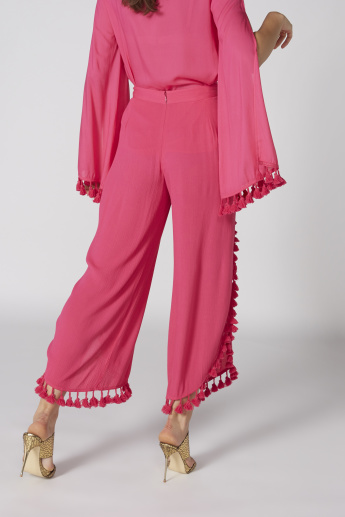 Tassel Detail Culottes with Elasticsised Waistband