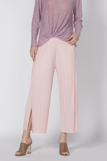 Ribbed Culottes in Wide Fit